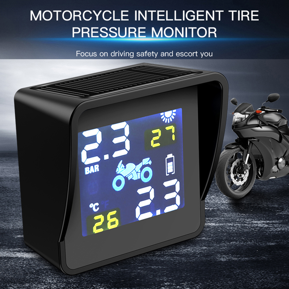 High-quality Solar Charging TPMS Wireless Tire Pressure Temperature Monitoring Alarm System Motorcycle Replacement Parts