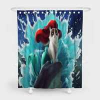 Lustige Tiere Wasserdicht Bad Vorhänge mit Freies Haken Kinder Badezimmer Decor Dusche Vorhänge für Home Hotel 180x200cm