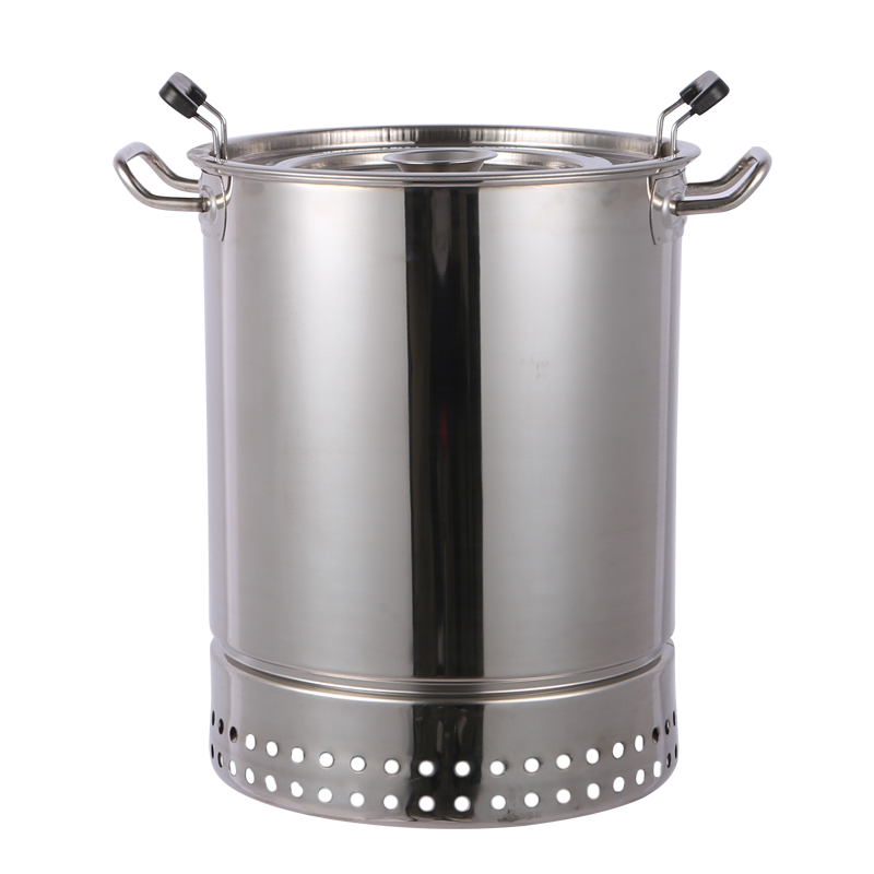 Invention smokeless barbecue home charcoal indoor oven outdoor stainless steel barbecue 5 people hanging furnace