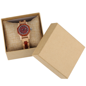 Image 2 - Elegante reloj con forma de Octágono y diamantes de imitación reloj de madera para mujer reloj con brazalete elegante de madera para mujer