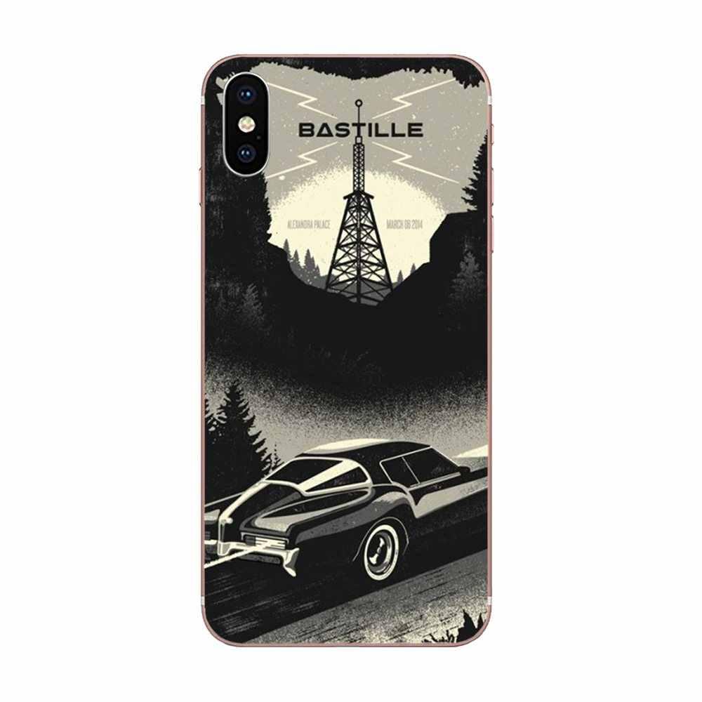 المطاط Bastille غنائي الموسيقى ستار كلمات TPU الجلد Paintin ل ابل اي فون 4 4S 5 5C 5S SE 6 6S 7 8 زائد X XS ماكس XR
