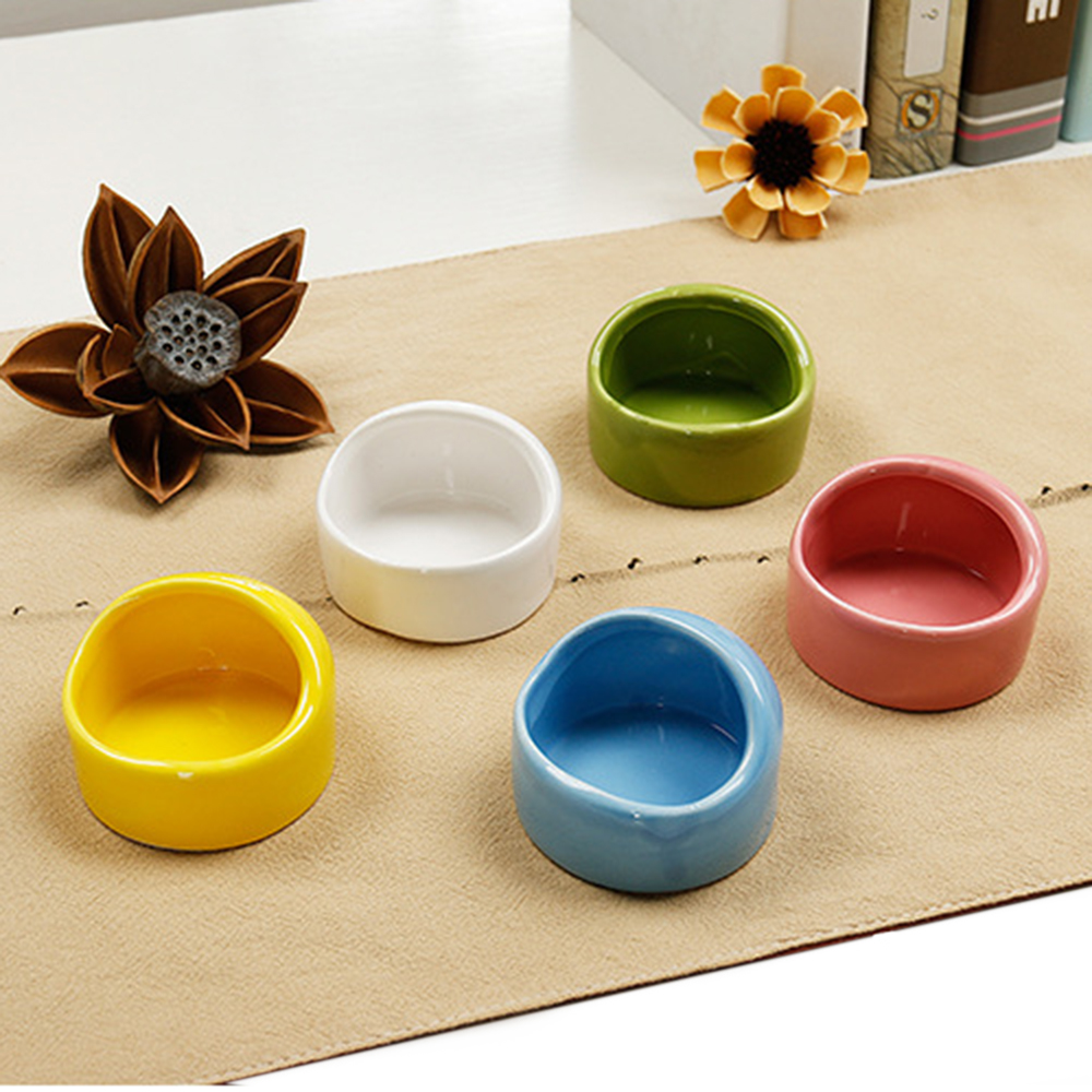 1PCS Creative Windproof Hamster Ceramic Snack Bowl Food Water Snack Feeder Small Pet Hamster Accessories Hamster Ceramic Hideout