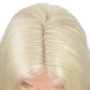 Парик для косплея IDOL для чернокожих женщин, Модные Синтетические длинные прямые волосы, блонд с эффектом омбре 38 дюймов, 613 искусственные волосы, передний парик на сетке