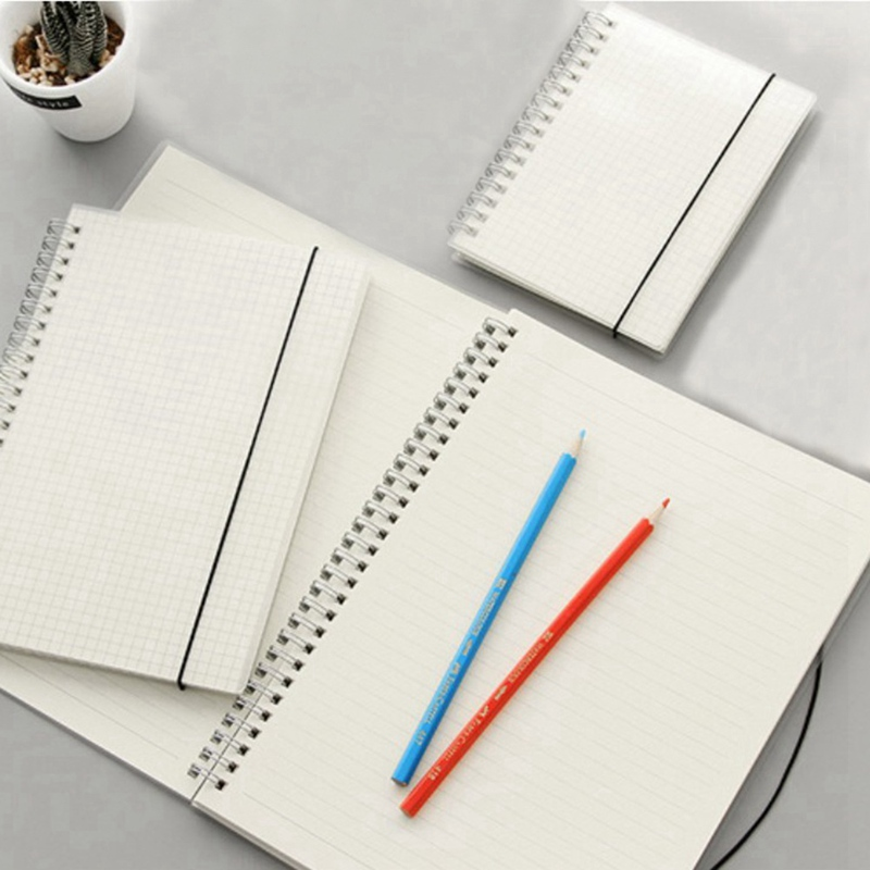 A6 A5 A4 Scrub Coil This Transparent Horizontal Line White Paper Grid Dot Hand Account Book Strap Notepad Notebook Diary