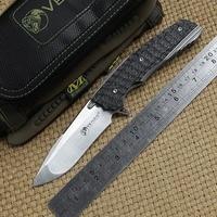 VENOM 2 Ball bearing flipper Folding Knife M390 blade Titanium carbon fiber handle camping hunt survival Tactical knives tools