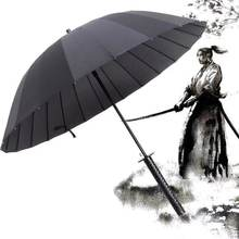 Big size Windproof Samurai Sword Sun Rain Umbrella Ninja-like Straight Long Handle Ribs Umbrella Manual Open(China)