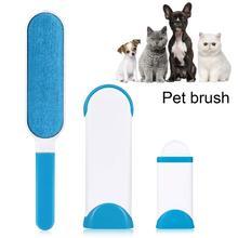 Инструмент для ухода за бородой для собак кисточка для удаления волос собака кошка мех Основа щетки двухсторонняя домашняя мебель, диван, щетка для чистки одежды