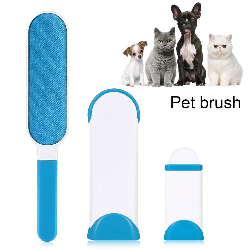 Dog Comb Tool Pet Hair Remover Brush Dog Cat Fur Brush Base Double Side Home Furniture Sofa Clothes Cleaning Lint Brush|Dog Combs| |  - title=