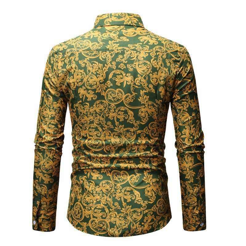 2020 남자 슬림 맞는 빈티지 패션 남자 셔츠 남자 드레스 저지 의류 새로운 사회 긴 소매 패션 디자이너 셔츠 탑 코트
