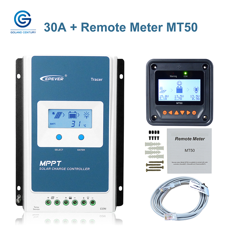 EPsolar Solar Charge Controller MPPT Control 10A//20A//30A//40A with 12V//24V DC Input Accessory-MT50