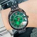 2020 роскошные женские часы с бриллиантами, розовое золото, часы с кристаллами, Топ бренд, женские повседневные часы, женские часы с браслетом,...