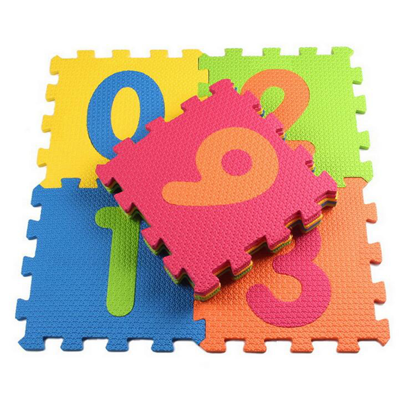 10pcs/set  Children's EVA Digital Puzzle Carpet Baby Crawling Play Mat Floor   Foam  WJ275
