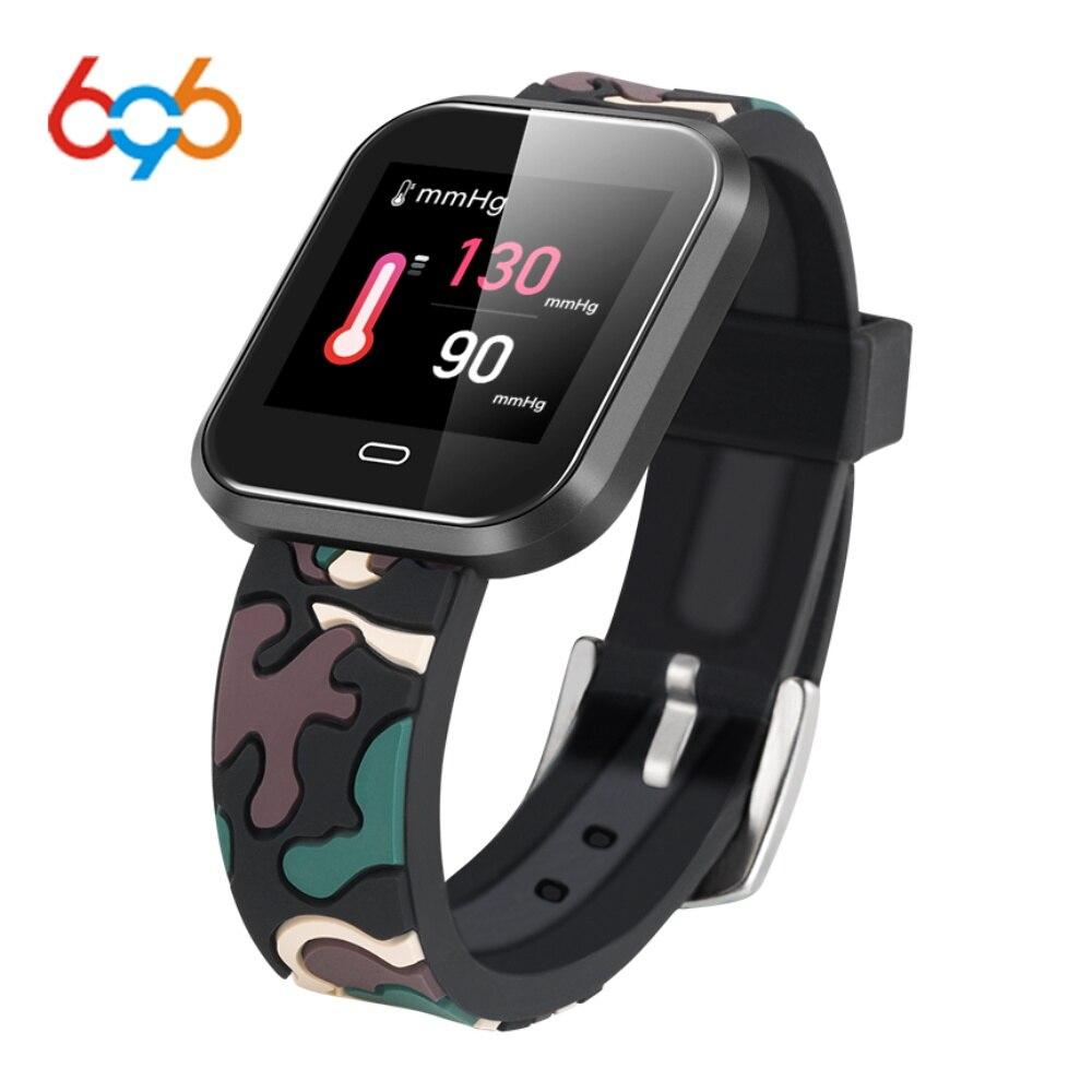 696 CD16 pulsera inteligente impermeable para hombres Monitor de ritmo cardíaco Bluetooth banda de muñeca inteligente rastreador de Fitness reloj inteligente para Android IOS