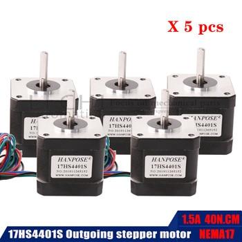 5PCS Nema 17 Stepper Motor 40MM 4-lead (17HS4401s) Motor for 3D Printer mini step motor