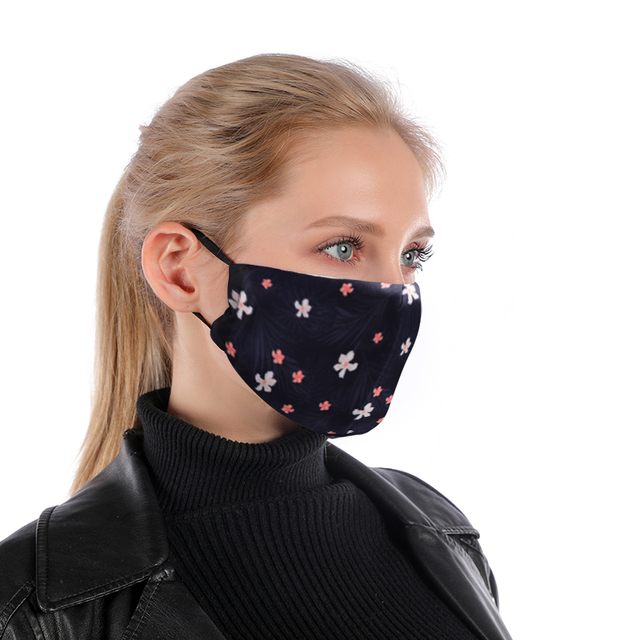 Flower Facial Reusable Mouth Mask Washable Protective PM2.5 Filter Mask Anti Dust Face Mask Windproof Mouth-muffle Anti Flu Mask 1