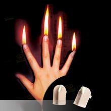 2020 Halloween Christmas Finger Fire Magic Stage Props Professional Magic Skills Illusion Magic Tools Set Of 4 Fingers christmas magic
