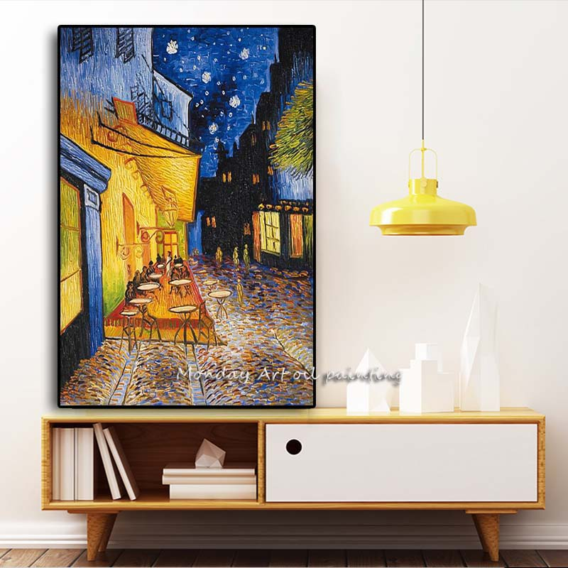 AAAAAAAAAAA Famous-Van-Gogh-Cafe-Terrace-At-Night-Oil-Painting-Reproductions-on-Canvas-Posters-and-Prints-Wall (2)副本