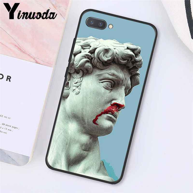 Yinuoda 代替デビッド像アート電話ケース Huawei 社の名誉 8 × 9 10 20 Lite 7A 5A 7C 10i 20i View20