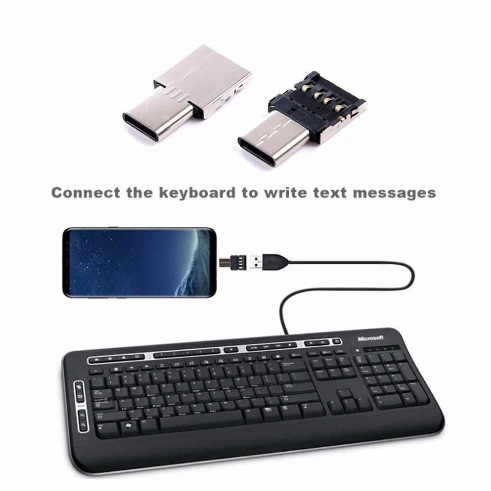C tipi USB konektörü OTG adaptörü için USB flash sürücü USB kart okuyucu USB kablosu S8 not 8 G6 Android telefon