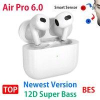 Nuevo aire Pro 4 6 TWS PK Air2 Air3 Air60 aire Pro 3 TWS inalámbrica auriculares Bluetooth 5,2 deportes auriculares superior BES Airoha 1652F