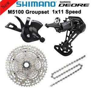 Image 2 - Shimano 2020 Nieuwe M5100 Slx M7000 Groepset 1X11 Speed Mountainbike Bevat Versnellingspook Achter Dearilleur Cassette Ketting 11 S