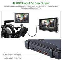 "nikon sony Eyoyo E7S 7"" פלט אינץ DSLR מצלמה צג 4K HDMI LCD מסך IPS FHD 1920X1080 תצוגה צג שדה DC עבור Nikon Sony Canon (4)"