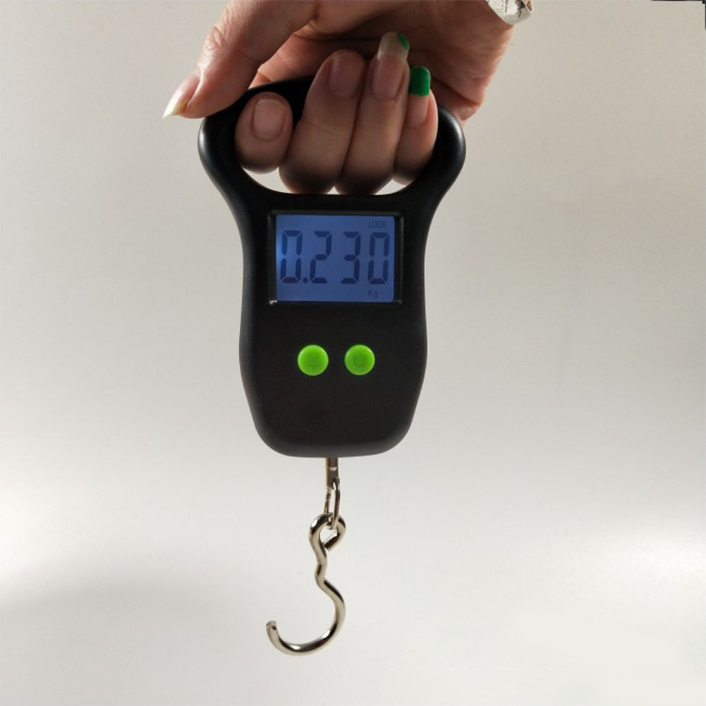 Portable Backlight With Hook Large Screen Hanging Scale Fish Weight 50kg Outdoor