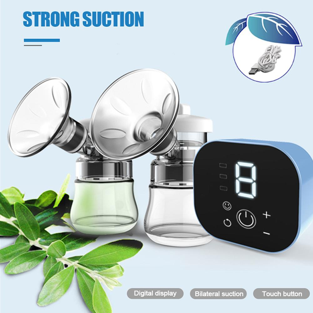Electric Breast Pump Smart Bilateral Large Suction Quiet Automatic Breast Pumping Device 9-speed Adjustment Anti-backflow