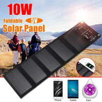 10W Portable Solar Charger Foldable 10W Solar Panel with USB Port for Cell Phone Camping Travel M25