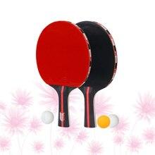 Rackets Rubber Table-Tennis-Racket-Set Pong-Balls Double-Side Training Beginner Faced