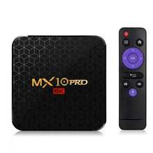 MX10 PRO Smart TV Box Android 9.0 TV BOX Allwinner H6 UHD 4K Media Player 6K Decodifica Delle Immagini 4GB / 64GB 2.4G WiFi 100M LAN USB3.0(China)