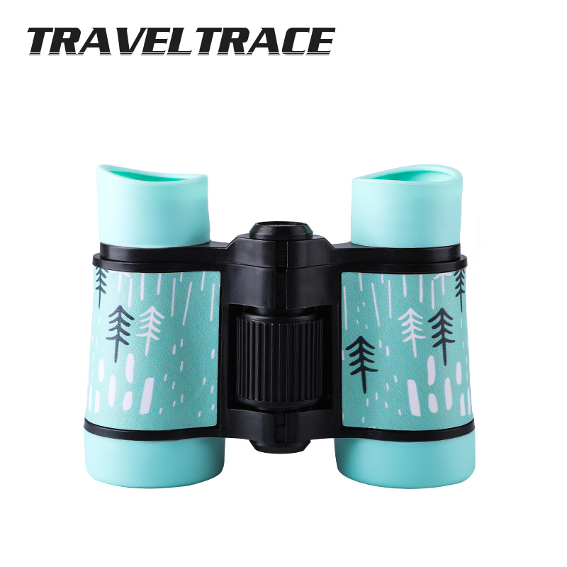 Power 4x30 Binoculars Plastic Children Colorful Telescope For Kids Compact Outdoor Games Toys HD Eyepiece Optical Objective Lens