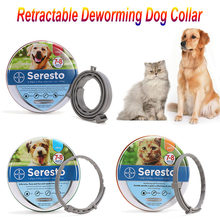 Retractable Deworming Dog Cat Collar Seresto 8 Month Flea & Tick Prevention Collar for Cats Dog Mosquitoes Collar Insect