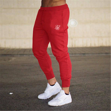 Men's sik silk gym jogging pants casual stretch cotton men's fitness workout pants tight sports pants high quality jogging pants