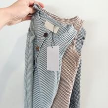 Emmababy 2020 Summer Clothing Newborn Infant Baby Boy Girl Cotton Romper Plaid J