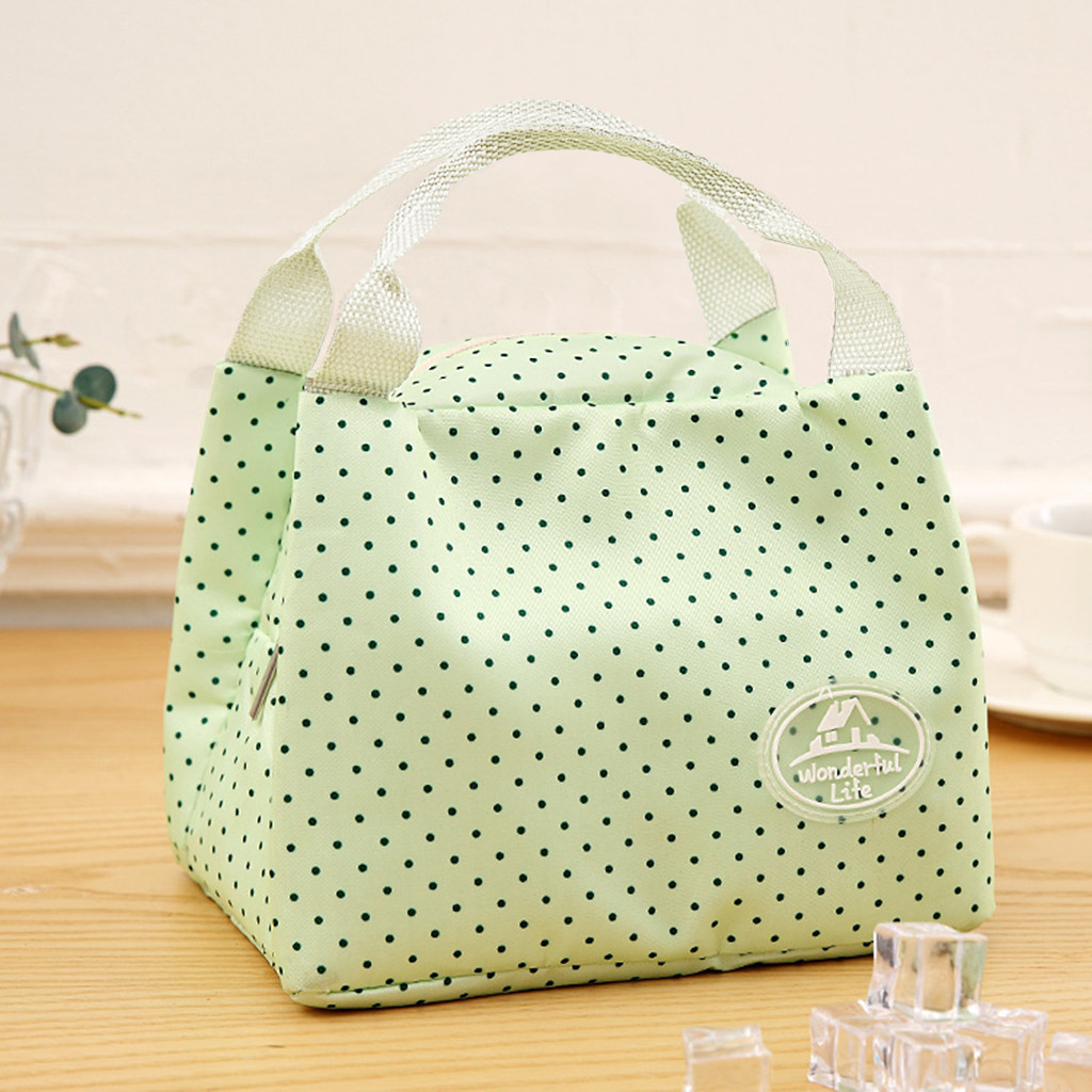 Hot Sale Lunch Box Portable Insulated Canvas Lunch Bag Thermal Food Functional Pattern Cooler Picnic Lunch Bags For Women Kids #