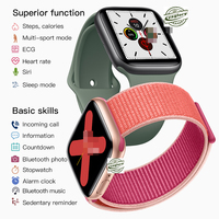 iwo 12 Smart Watc Series 5 Heart Rate Monitor Smartwatch Fitness Tracker Clock For Apple iphone Android With 30 Watch Faces