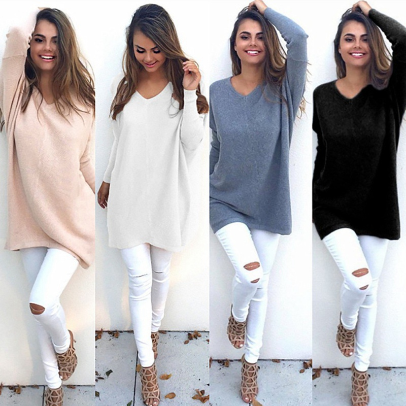 2019 Autumn Winter New Knitted Sweaters Women Casual Long Sleeve Pullover Female O-neck Jumper Pull Femme Black Plue Size 3XL
