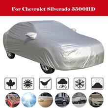 Car Cover MPV Outdoor Anti-UV Sun Shade Rain Snow Scratch Protection Windproof Cover For Chevrolet Silverado 3500HD