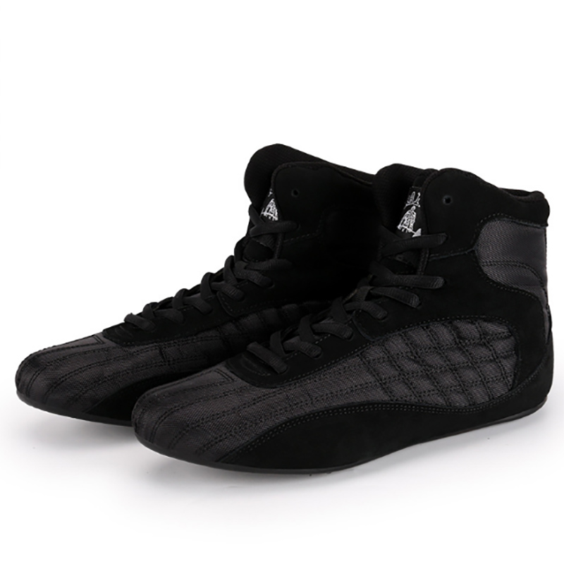 Professional Boxing Wrestling Shoes Rubber Outsole Boys Training Shoes Cow Muscle Outsole Sport Boots Sneakers