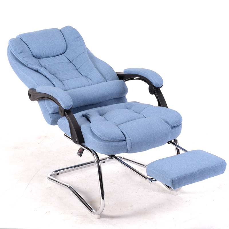 Cloth Art Computer Office Chair Home Boss Chair Massage Can Lie Down Lunch Break Boss Chair Special Stool Bow Meeting