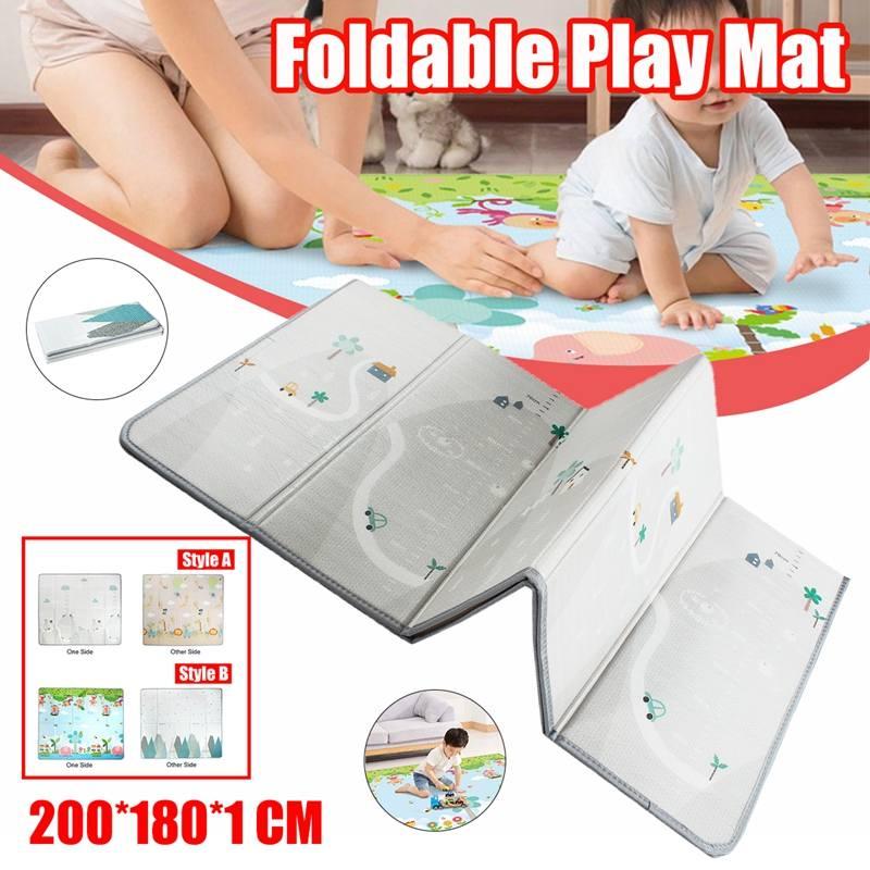 Baby Kids Play Mat Waterproof Soft Floor Playmat Foldable Crawling Carpet Kid Game Activity Rug Folding Blanket Educational Toys