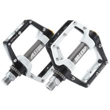 Ansjs Road Bicycle MTB Aluminum Strong Pedal, Super Powerful CR-MO 9/16 Spindle, Three Pcs Ultra Sealed Bearings FACE Off Peda