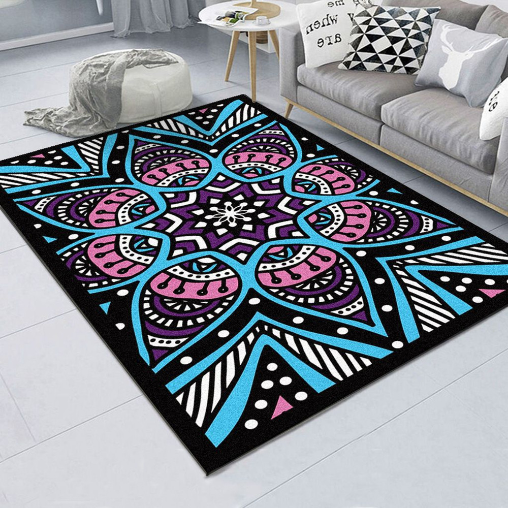 Classic Retro Geometric <font><b>3D</b></font> Printed Carpets For Living Room Home Bedroom Area Rugs Coffee Table <font><b>Tapete</b></font> Persian Delicate Floor Mat image