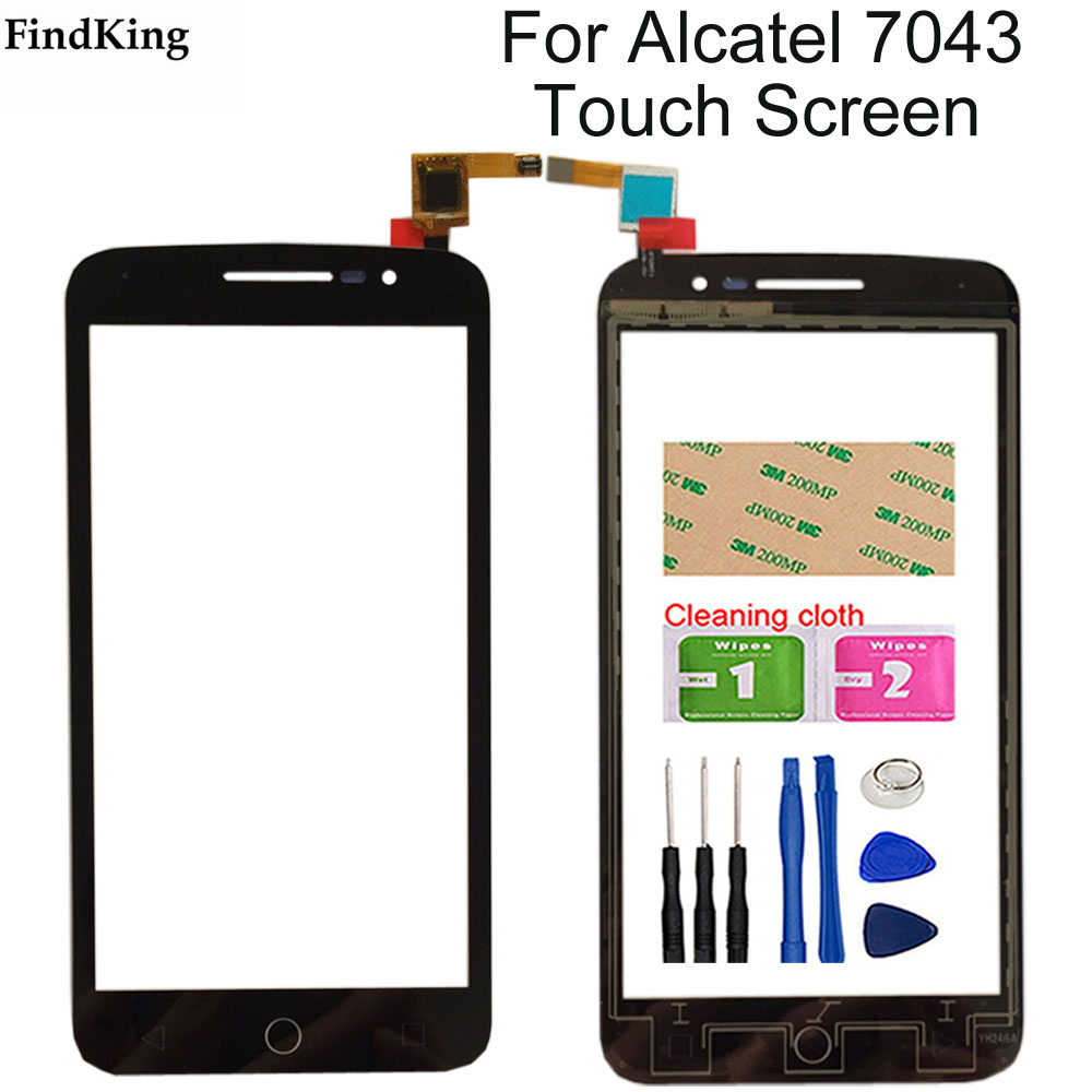 Touch Screen For Alcatel One Touch Pop 2 OT7043 7043 7043Y 7043A 7043E <font><b>7043K</b></font> Sensor Touch Panel Glass screen Digitizer Tools image