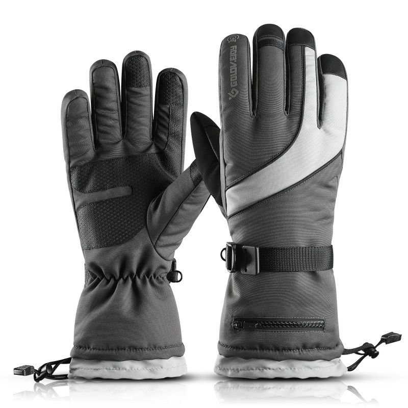 2019 Men's Ski Gloves Snowboard Gloves Snowmobile Motorcycle Riding Winter Gloves Warm Fleece Motorcycle Snowmobile Riding Glove