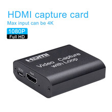 HDMI vers USB 2.0 carte de Capture vidéo 1080P 4K HDMI dispositif de Capture vidéo Dongle jeu enregistrement en direct diffusion en boucle locale(China)