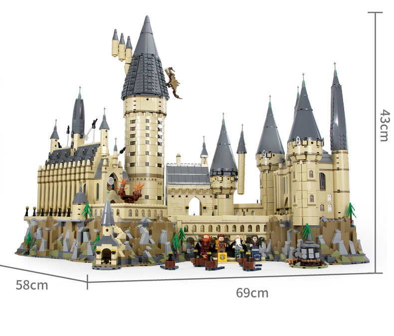 DHL 6020pcs Potter Movie Castle Magic Compatible Legoly 71043 City Boy Building Blocks Bricks Toys For Children Gifts 16050 - 2