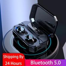 G02 V5.0 Bluetooth Stereo Earphone Wireless IPX7 Waterproof Touch Earbuds Headse