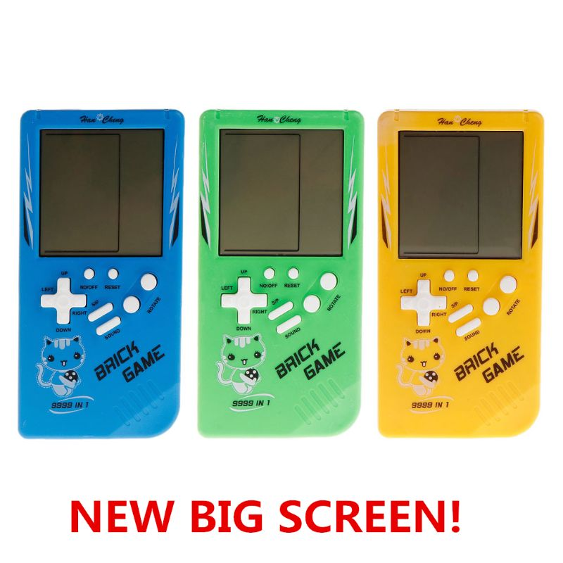 Big Screen Classic Handheld Game Machine Tetris Brick Game Kids Game Machine 26 Games